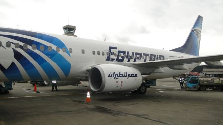 INAUGURAL FLIGHT OF EGYPT AIR IN LAGOS