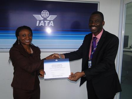 PRESENTATION OF IATA ATC CERTIFICATE