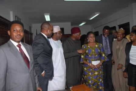 VISIT TO THE HONORABLE MINISTER OF AVIATION, PRINCESS STELLA ODUAH.