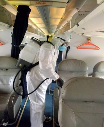 Our Excellent Cabin Disinfecting & Cleaning Process